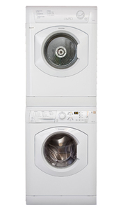 Ariston Stackable Laundry Collection by Splendide: ARXL129WSP washer and AS66VX dryer shown